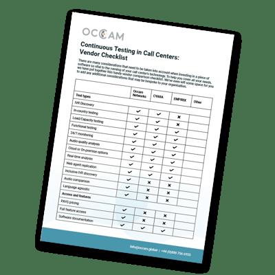 Occam-Continuous-Testing-in-Call-Centers-Vendor-Checklist-Preview
